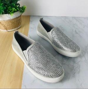 Carlos Santana silver size 8 slip-on
